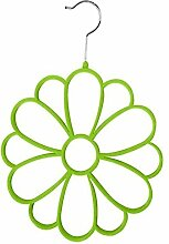 Blume Schalanhaenger - SODIAL(R) Schalanhaenger am Buegel Blume fuer den Kleiderschrank Gruen
