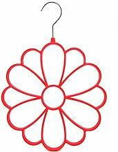 Blume Schalanhaenger - SODIAL(R) Schalanhaenger am Buegel Blume fuer den Kleiderschrank Ro