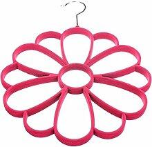 Blume Schalanhaenger - TOOGOO(R) Schalanhaenger am Buegel Blume fuer den Kleiderschrank Rose ro