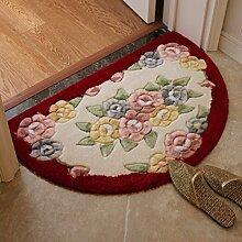 Blume Semi-matte/Verdicken Sie,Anti-schleudern,Bodenmatte/Badezimmer Matte/Schlafzimmer Fußmatten/Wohnzimmer-fußmatten-E 50x80cm(20x31inch)