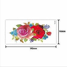 Blume Tattoo Aufkleber Damen Blume Rose