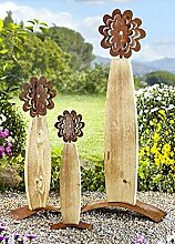 Blume Timi Holz/ Edelrost, 45 cm