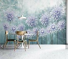 Blumen -3D Wandbild Tapete für Wohnzimmer