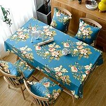 Blumen baumwolle tischtuch nordic palace restaurant living zimmer runde tischtuch garten tisch -A 135x135cm(53x53inch)
