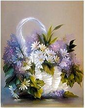 Blumen DIY Malen Nach Zahlen Acryl Leinwand