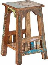 Blumen-Hocker in Handarbeit aus Alt-Holz