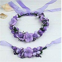 Blumen-Kranz-Frauen-Stirnband mit dem Armband