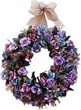 Blumen-Kranz für Inneneinrichtung, künstliche