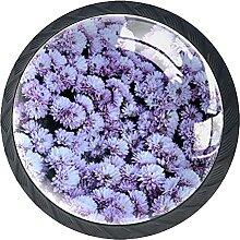 Blumen Kristallglas Kommode Schublade Knöpfe