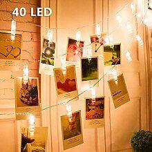 Blumen LED Lichterkette, Rusee 20 LED Rosen