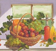 Blumen Orange Apple Pfirsich Wein Trauben Körbe