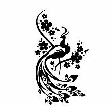 Blumen Pfau Wandaufkleber Für Wohnzimmer Tier