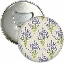 Blumen Pflanze Malerei Lavendel Rund Flaschenöffner Kühlschrank Magnet badge Button 3Geschenk