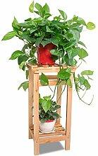 Blumen-Racks Holzfarben-Balkon Massivholz Kleine Blumen-Racks Indoor und Outdoor können zusammengebaut werden Topf-Regal (drei Größen optional) ( größe : 60 )