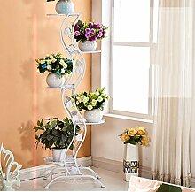 Blumen Regale Blumentreppe Blumen Regale , dekoratives Design, Garten/Terrasse,Pflanzentreppe Blumenbank ( Farbe : 1 )