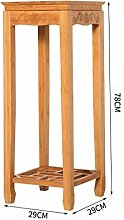 Blumen Regale Wooden Flower Rack, Holzpflanze Flower Display Stand Holz Topf Regal Lagerung Rack Outdoor Indoor, Holz Blumen Rack, Holz, Blumenständer ( größe : 29*29*78cm )