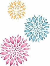 Blumen Schablone-wiederverwendbar Large