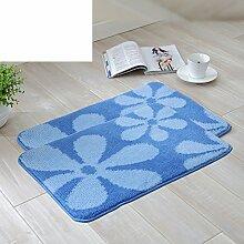 Blumen Schlafzimmer Fußmatten/Fußmatten/Kinder Matten/Badezimmer Matte/Saugfähigen Anti-rutsch-matte-E 40x60cm(16x24inch)