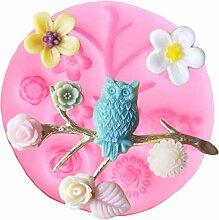 Blumen-Silikonform Äste Kuchen Rand Fondant Form