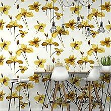 Blumen Tapete Nordic Persönlichkeit Wohnzimmer Schlafzimmer Hintergrund Tapete Vliestapete , autumn color hs7042