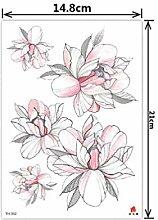 Blumen Tattoo Aufkleber Umwelt wasserdicht