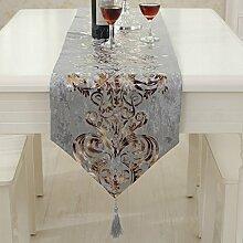 Blumen Tischläufer mit Quaste Luxus & Modern