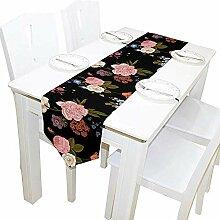 Blumen Tischläufer, Tischdecke Läufer für