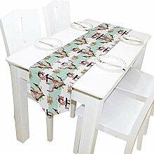Blumen und Anker Tischläufer, Tischdecke Läufer