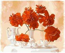 Blumenbild DIY Malen Nach Zahlen Malen &
