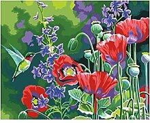 Blumenbild Malerei nach Zahlen Farbe nach Zahlen