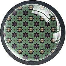 Blumenblume Vintage Grün, 4er Pack Schrank