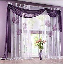 Blumendruck Vorhang Panels, Voile Vorhänge
