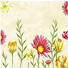 Blumengelb im Barockstil für Walls Murals Tapete