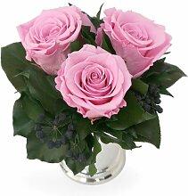 Blumengesteck 3 Jahre haltbar in Silberbecher mit