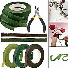 Blumengesteck Werkzeug-Set, grün-braunes