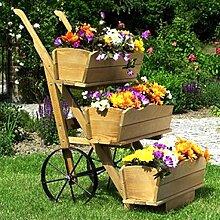 Blumenkarre mit Blumenkasten 3er Set Pflanzkasten