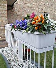 Blumenkasten 60cm Farbe Weiß