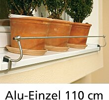 Blumenkasten-Halterung 110 cm, Edelstahl f.