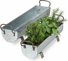 Blumenkasten-Set aus Metall Gena Brambly Cottage