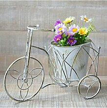 Blumenkasten von Schmiede -, Fahrrad Vintage Weiß Gestreift Dekoration Terrasse Garten