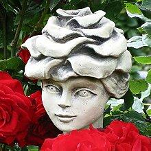 Blumenkind 'Edelrose', Betonguss, 17 cm