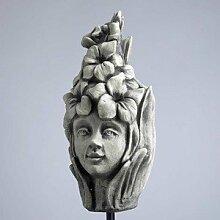 Blumenkind Gladiole, Figur aus Steinguss