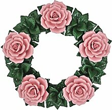 Blumenkranz - Blumendekoration - Keramik Kranz -