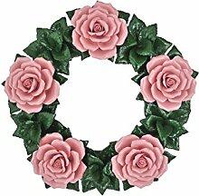 Blumenkranz Rosen Keramik Gartendeko Hauswanddeko