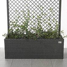 Blumenkübel aus Rattan mit Bewässerungssystem