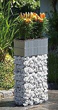 Blumenkübel Zink Blumenkasten mit Bewässerung