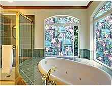 Blumenmuster Fenster Film Glasaufkleber Kein Klebstoff Static Cling (40 X 500cm)