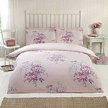 Blumenmuster Rosen Blumen Gepunktet Pink