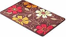 Blumenmuster Verdickung Gleitschutz Umweltschutz Teppich Latex Boden Wasseraufnahme Wear Badezimmer Hall Küche Schlafzimmer Wohnzimmer Eingang Teppich ( Farbe : A , größe : 45*70cm )