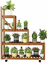 Blumenpflanze s Gartenregal, Vierschichtiges